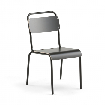 Jídelní židle Frisco, černý rám, HPL černá