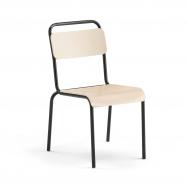 Jídelní židle Frisco, černý rám, HPL bříza