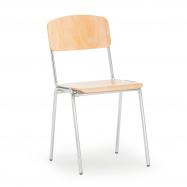 Jídelní židle Clinton, bříza, chrom