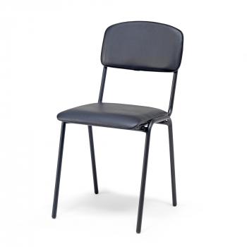 Jídelní židle Clinton, černá koženka, černá