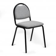 Jídelní židle Warren, textilní potah, šedá, černá
