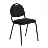 Jídelní židle Warren, černá koženka, černá