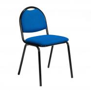 Jídelní židle Warren, textilní potah, modrá, černá