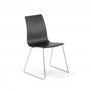 Židle Filip, V 450 mm, chrom, černá
