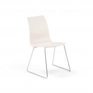 Židle Filip, V 450 mm, chrom, bílá