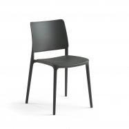 Židle Rio, tmavě šedá