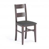 Restaurační židle Nashville, syntetická kůže, odstín wenge