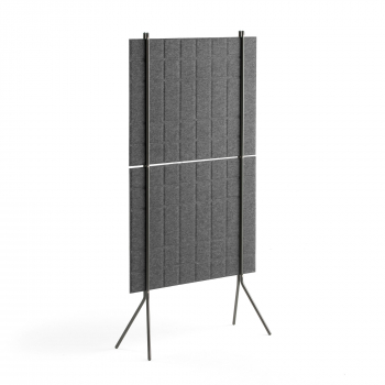 Paraván Split, 800x1500 mm, tmavě šedý