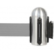 Hlavice natahovacího bariérového systému na stěnu - šedá