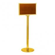 Stojanová tabule LG-P1-TG, lanový úchyt, provedení zlaté