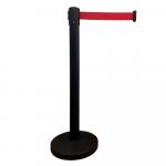 Pásková zábrana RBB23_BLACK s červeným pásem, černý