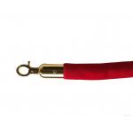 Lano k zábranovým sloupkům - červené, hladké, zlatá karabina, délka 150cm