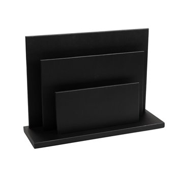 Kožený stojan na noviny 330 x 230 x 100 mm The Londoner Noir, černý