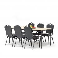 Jídelní sestava: stůl 1800x800 mm