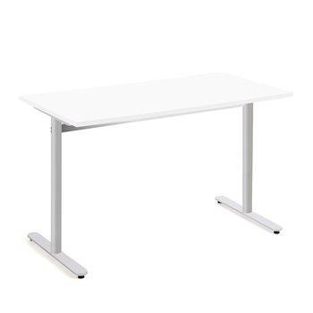 Stůl Tilo, 1200x800x720 mm, stříbrná, bílá