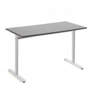 Stůl Tilo, 1200x800x720 mm, stříbrná, tmavě šedá