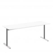 Stůl Tilo, 1800x800x720 mm, chrom, bílá