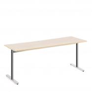 Stůl Tilo, 1800x800x720 mm, chrom, bříza