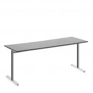 Stůl Tilo, 1800x800x720 mm, chrom, tmavě šedá
