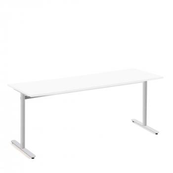 Stůl Tilo, 1800x800x720 mm, stříbrná, bílá