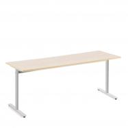 Stůl Tilo, 1800x800x720 mm, stříbrná, bříza