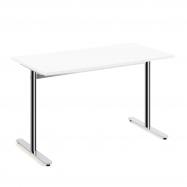 Stůl Tilo, 1200x800x720 mm, chrom, bílá