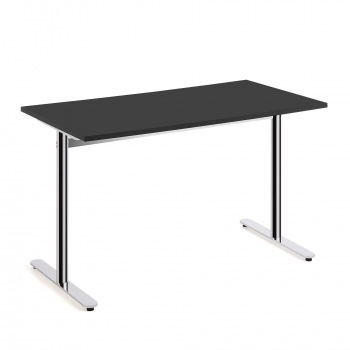 Stůl Tilo, 1200x800x720 mm, chrom, černá