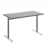 Stůl Tilo, 1200x800x720 mm, chrom, tmavě šedá