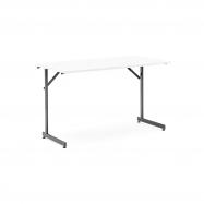 Skládací stůl Claire, 1200x600 mm, bílá, černá