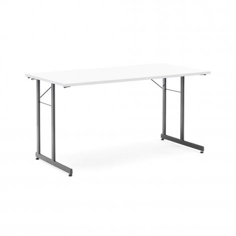 Skládací stůl Claire, 1400x700 mm, bílá, černá