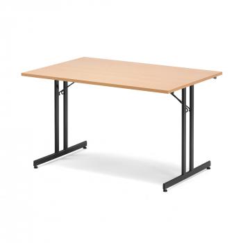 Skládací stůl Emily, 1200x800 mm, buk, černá