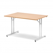 Skládací stůl Emily, 1200x800 mm, buk, chrom