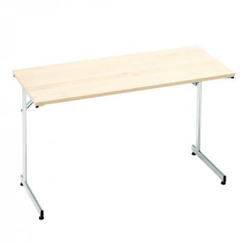 Skládací stůl Claire, 1200x500 mm, bříza, chrom