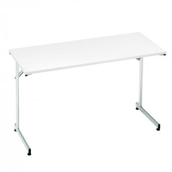 Skládací stůl Claire, 1200x500 mm, bílá, chrom