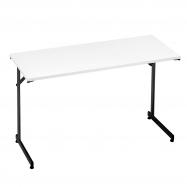 Skládací stůl Claire, 1200x500 mm, bílá, černá