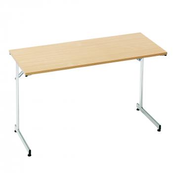 Skládací stůl Claire, 1200x600 mm, lamino buk, chrom