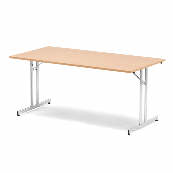 Skládací stůl Emily, 1800x800 mm, buk, chrom
