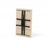 Skládací stůl Emily, 1200x800 mm, bříza, černá