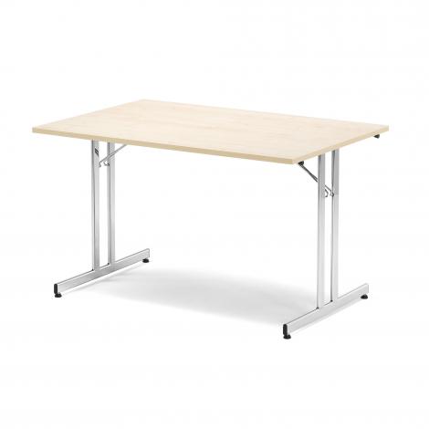 Skládací stůl Emily, 1200x800 mm, bříza, chrom