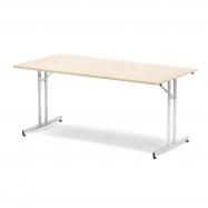 Skládací stůl Emily, 1800x800 mm, bříza, chrom