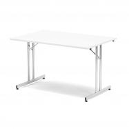 Skládací stůl Emily, 1200x800 mm, bílá, chrom