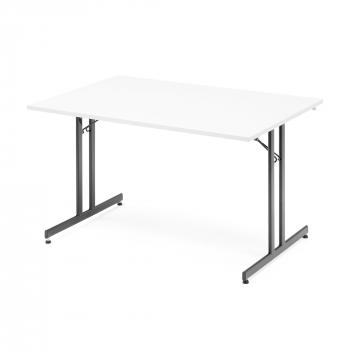Skládací stůl Emily, 1200x800 mm, bílá, černá