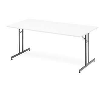 Skládací stůl Emily, 1800x800 mm, bílá, černá
