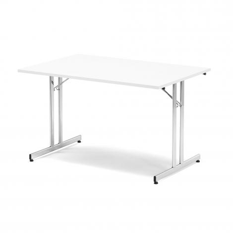 Skládací stůl Emily, 1800x800 mm, bílá, chrom