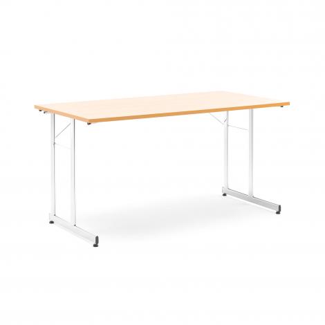 Skládací stůl Claire, 1400x700 mm, buk, chrom