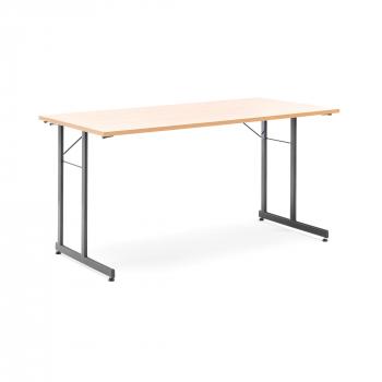 Skládací stůl Claire, 1400x700 mm, buk, černá