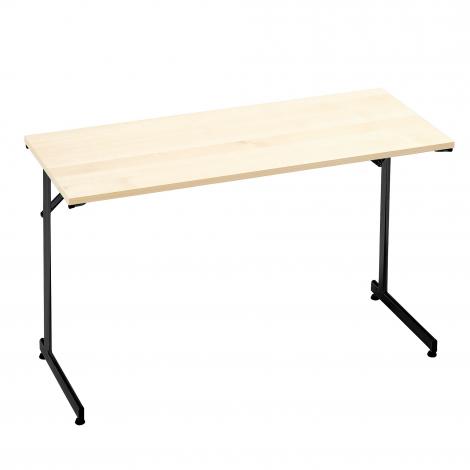 Skládací stůl Claire, 1200x600 mm, bříza, černá