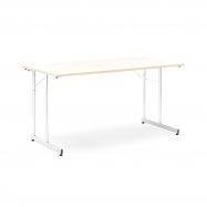 Skládací stůl Claire, 1400x700 mm, bříza, chrom