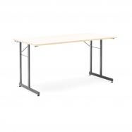 Skládací stůl Claire, 1400x700 mm, bříza, černá