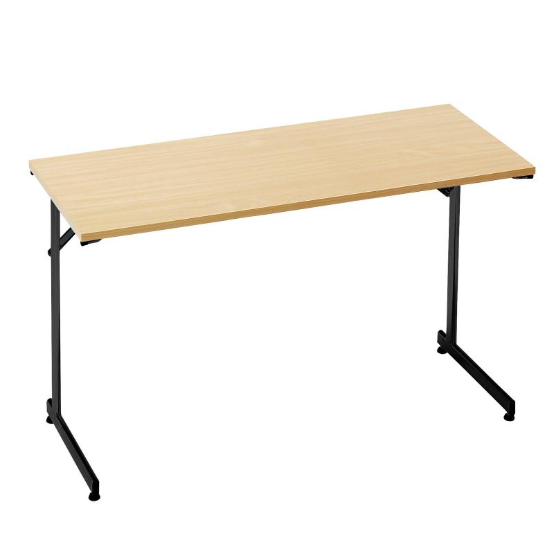 Skládací stůl Claire, 1200x500 mm, buk, černá